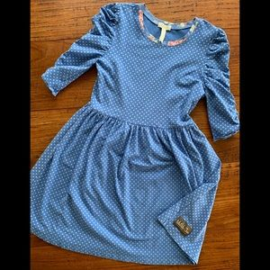 Matilda Jane blue polka dot Reagan Lap dress